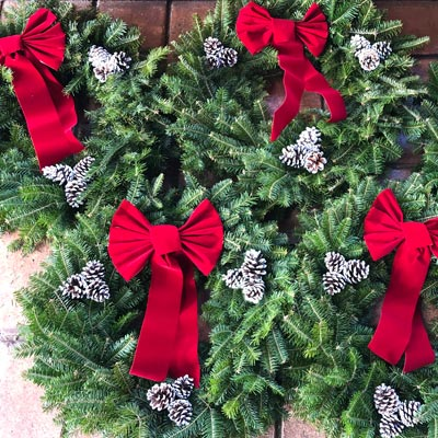 Sustainably Hand Harvested Balsam Christmas Wreaths
